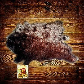 Accent Throw Carpet Bear Round Deer Skin Faux Fur Rug Sheepskin Wolf