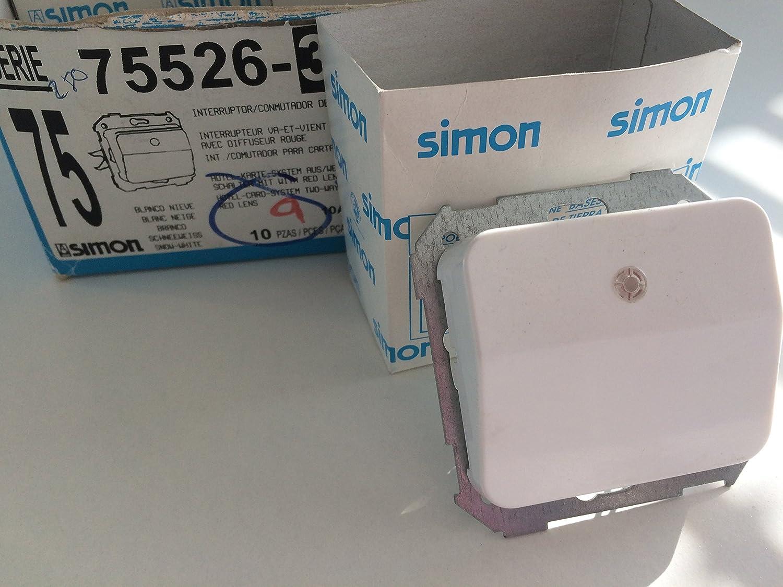 Simon 75526-30 Interruptor De Tarjeta