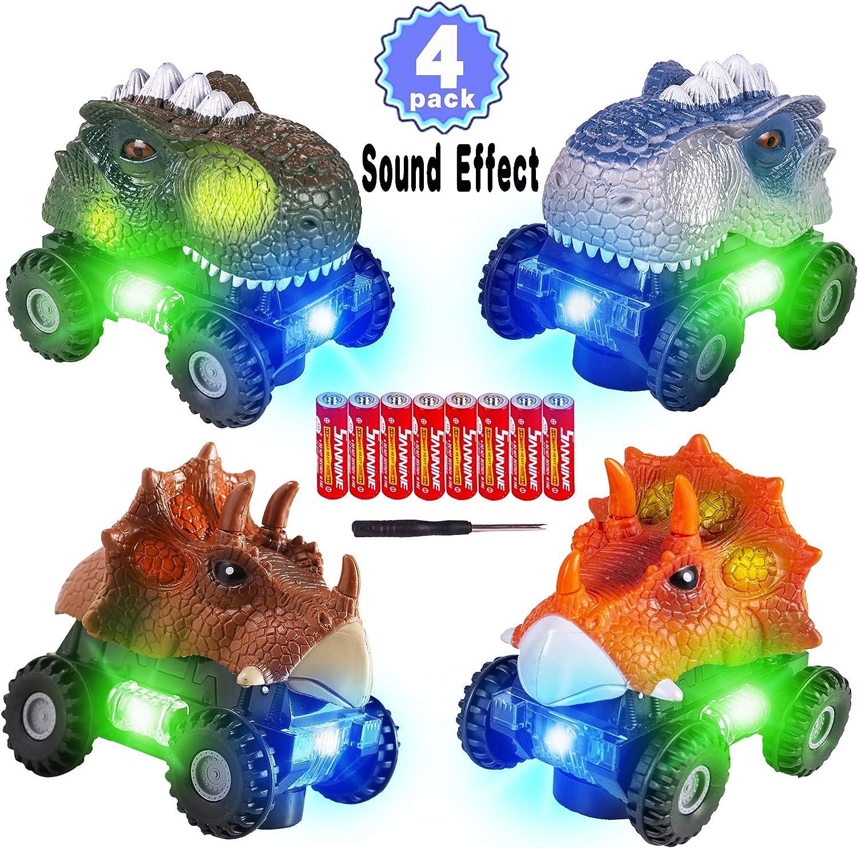 5 Options Vivid Animal Dinosaurs Figures Pull Back Cars Jurassic Toys Kids Gifts