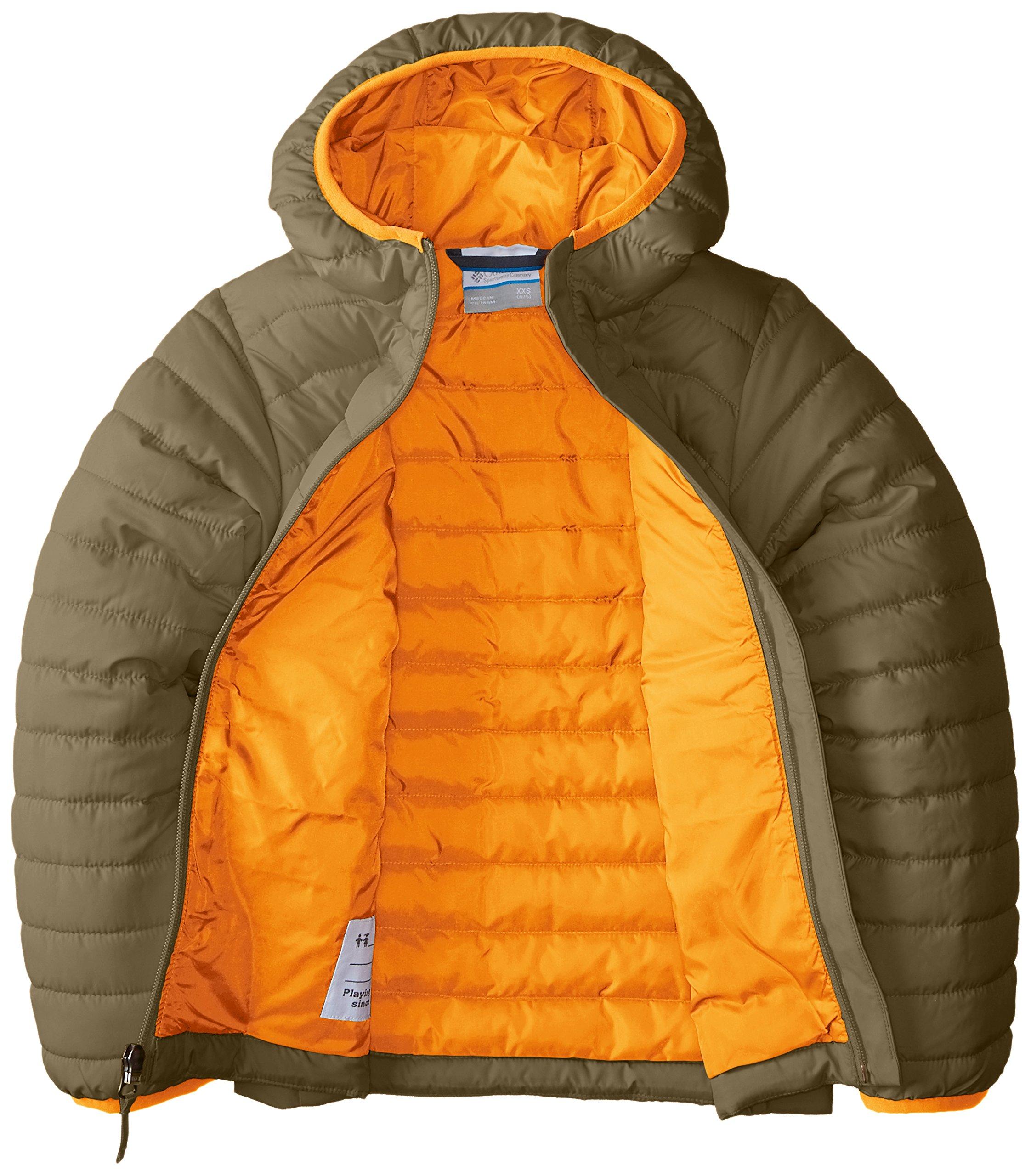 Columbia Boys' Big Powder Lite Puffer Jacket, Sage, Medium by Columbia (Image #3)