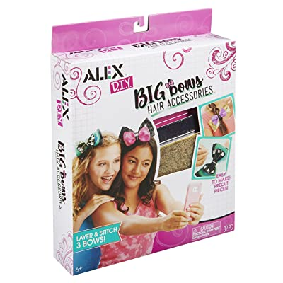 Alex DIY Big Bow's Hair Accessories Kids Art and Craft Activity: Toys & Games