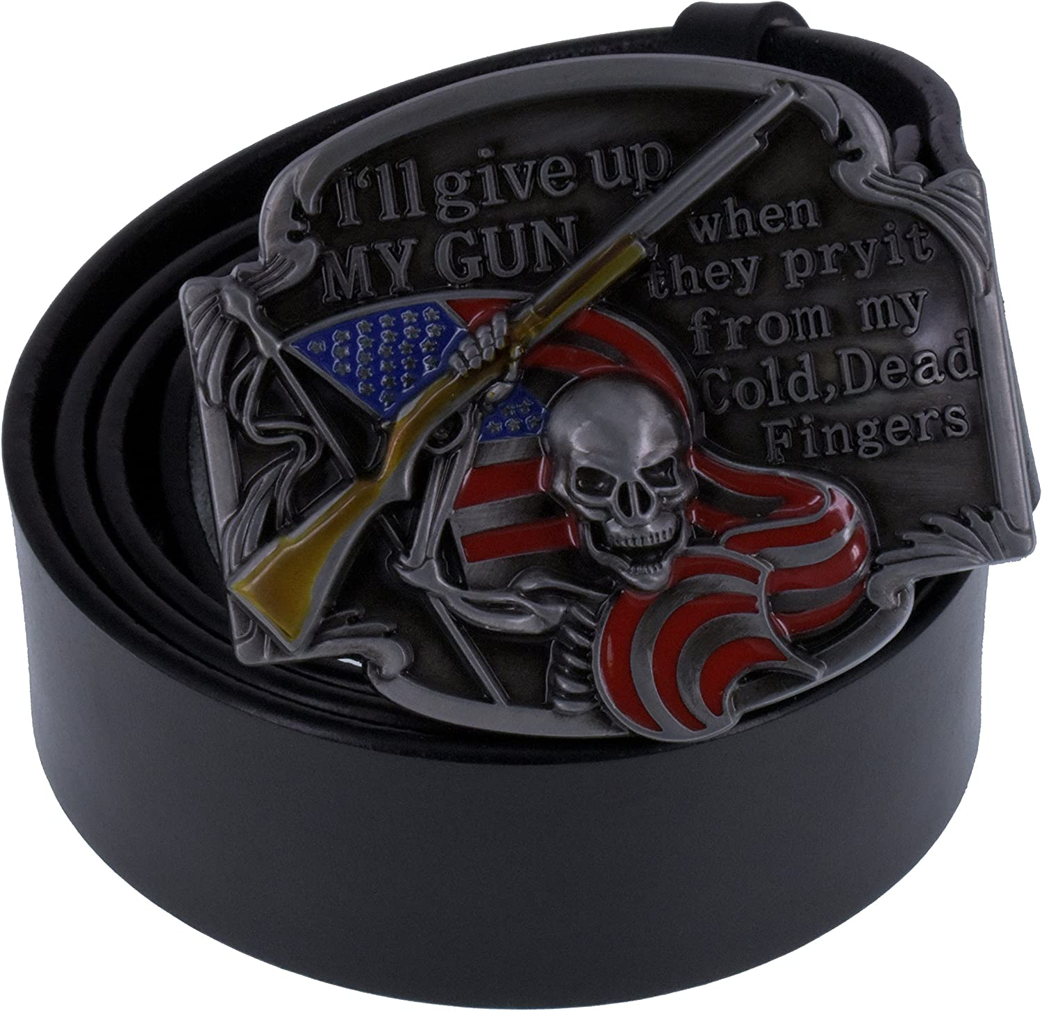 GEAR HEAD Skull men Metal belt buckle Biker Rock American Western Clothes Jeans