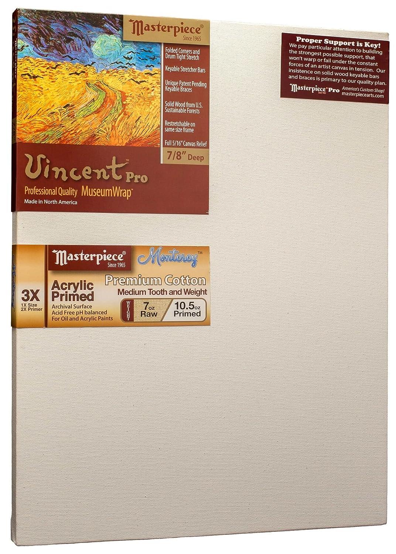 Monterey Most Popular 3X Masterpiece Artist Canvas VM-2128 Vincent Pro 7//8 Deep 21 x 28 Cotton 10.5oz