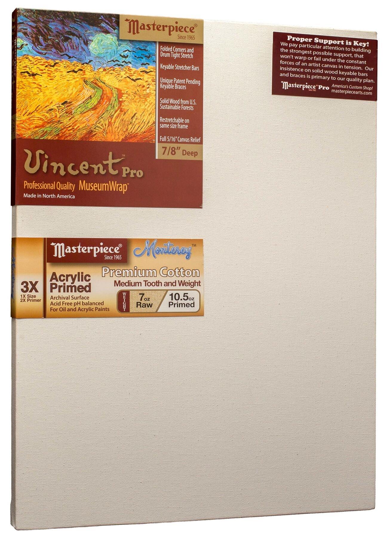 Masterpiece Artist Canvas VM-3654  Vincent Pro 7/8'' Deep, 36'' x 54'',  Cotton 10.5oz - 3X - Monterey Most Popular