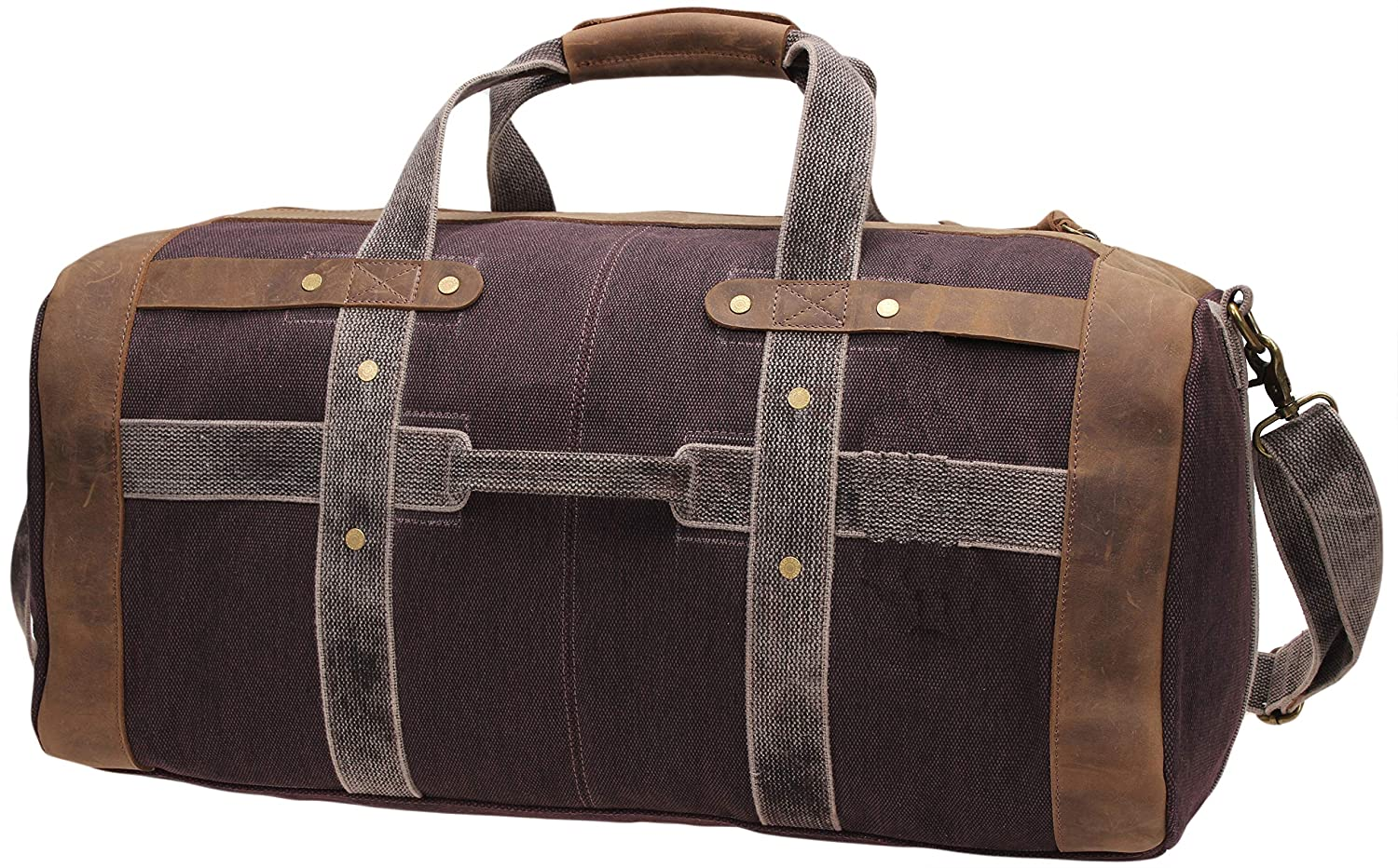 Iblue Weekend Bag Travel Duffel Bags For Men Canvas Carry On #B007
