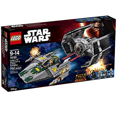 LEGO Star Wars Vader's TIE Advanced vs. A-Wing Starfighter 75150: Toys & Games