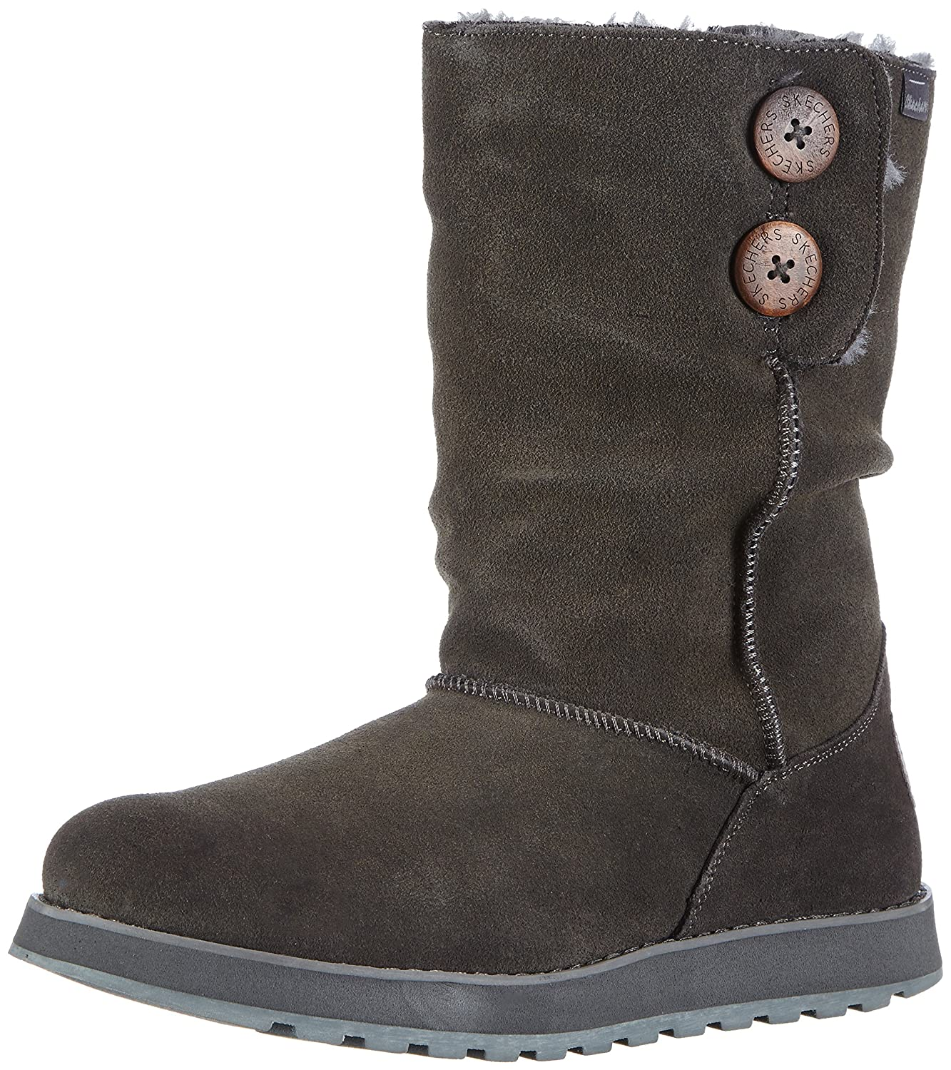 Skechers Keepsakes Freezing Temps Damen Halbschaft Stiefel  38 EU|Grau (Ccl)