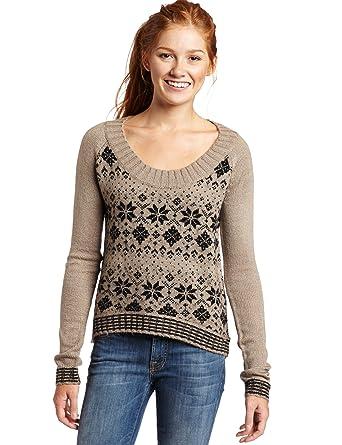 Kensie Girl Juniors Fair Isle Sweater, String Mix, Medium at ...