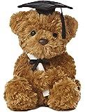 "Aurora World Plush Graduation Bear, Black Cap, 8.5"""