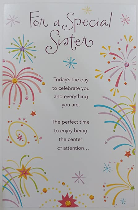 Amazon For A Special Sister Happy Birthday Greeting Card