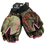 Huntworth Ladies Hunting Oaktree Camo Extreme Cold Pop-Top Womens Glove