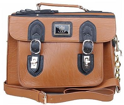 e6232145fc43 Exoticglitter LYDC LADIES HANDBAG / LAPTOP BAG / BRIEFCASE Light Brown:  Amazon.co.uk: Shoes & Bags