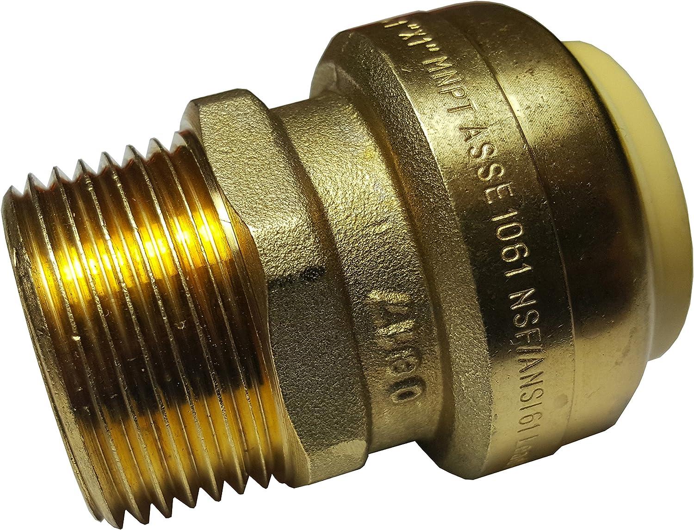 "New! x1 1//2/"" SharkBite Quality Push Fit Male Adapter Lead Free Brass"