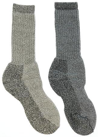 Parka de hombre Ultimate calcetines de lana Merino Extreme fría color caqui y gris grande: Amazon.es: Deportes y aire libre