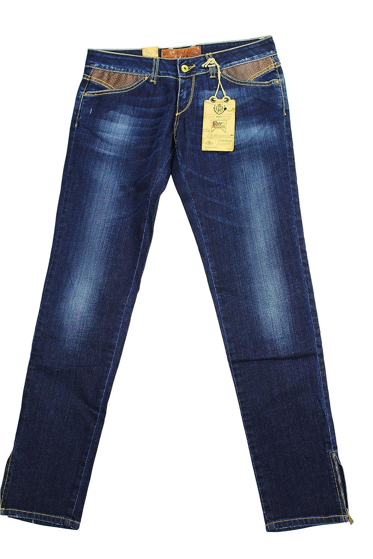 Roy Roger's Womens Capri Jeans Size 30 Regular Blue Cotton Blend