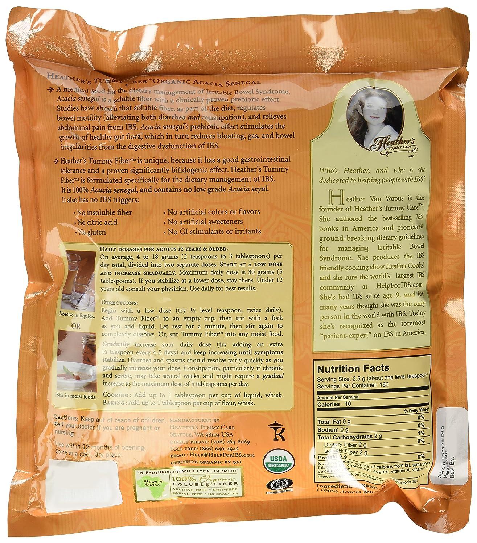 Amazon.com: Heathers Tummy Fiber Acacia Senegal BULK KIT (3 - 1lb. pouches) ~ Organic Acacia Senegal for Irritable Bowel Syndrome: Health & Personal Care