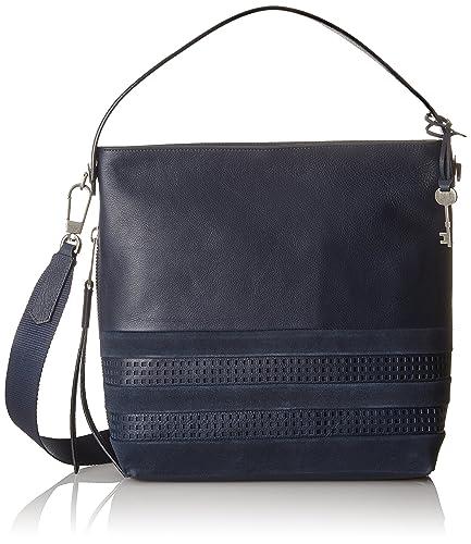 d848d3400 Fossil Damentasche ? Maya Small Hobo, Women's Shoulder Bag, Blue (Midnight  Navy)