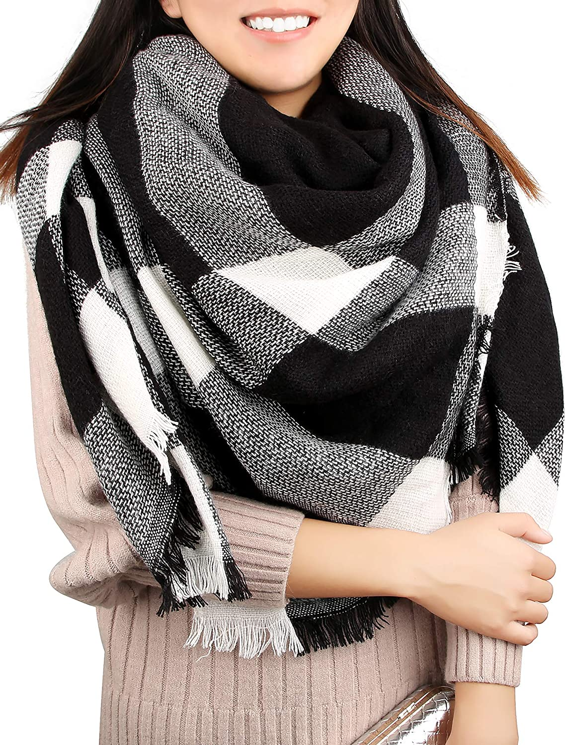 Winter Blanket Scarf Women...