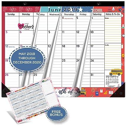 Cute Christmas December Calendar 2020 Amazon.: Magnetic Calendar 2019   2020 for Fridge by StriveZen