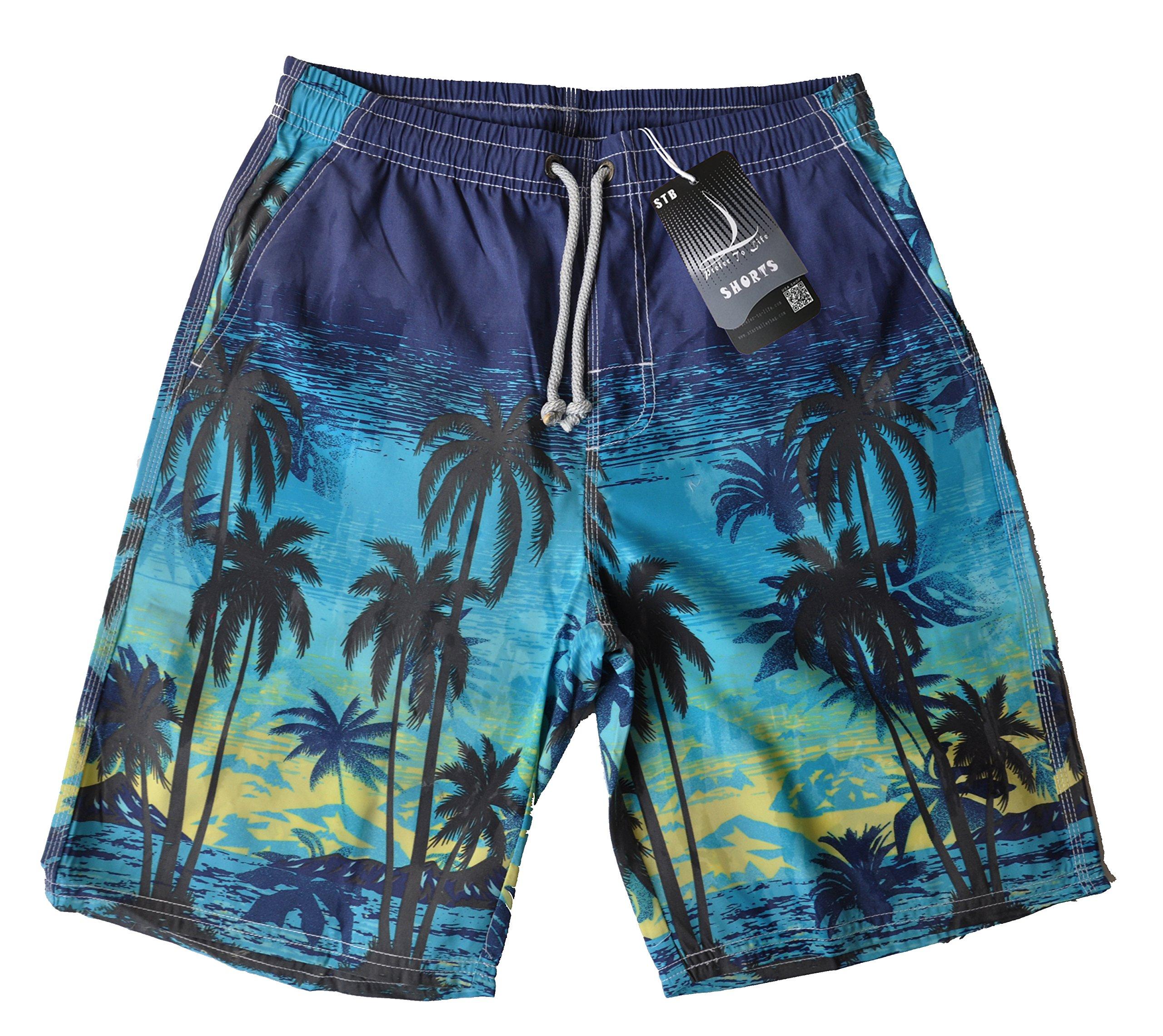 Prefer To Life Outdoor Shorts for Mens Board Shorts Outdoor Beach Pants Travel Beach Life Frist Choice Swim Truncks (XL)