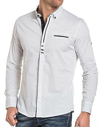 Chemise Blanc Jeans BLZ à Blanche Taille Chic Pois Couleur Zq6Kq5yf