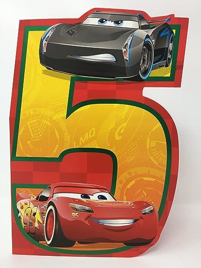 Hallmark Disney Cars Tarjeta de cumpleaños edad 5 - grande ...