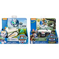 Paw Patrol Everest's Rescue Snowmobile & Paw Patrol, Jungle Rescue, Tracker's Jungle Cruiser, Vehicle & Figure Includes Blizy Pen
