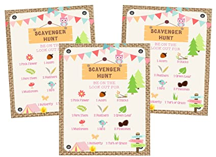 Amazon com: Glamping Girl Camping Pink Party Invitations
