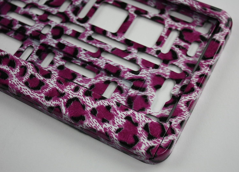 ZentimeX Z788701 Kennzeichenhalter Kennzeichenhalterung Pink Leopard Optik f/ür DE-Standard Kennzeichen 1 St/ück