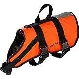 Baltic Giubbotto salvagente per animali domestici, con chiusura a strappo e cintura, Arancione (Orange - orange), L (15-40 kg)