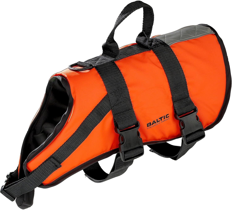 Rettungsweste Hund Mod. 0430 Baltic Hunde Schwimmweste Mascot orange schwarz