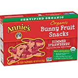 Annie's Organic Bunny Fruit Snacks, Summer Strawberry, 5 Pouches, 0.8 oz Each