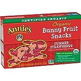 Annie's Organic Summer Strawberry Bunny Fruit Snacks, Gluten Free (50 Pouches)