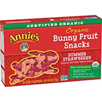 Annie's Organic Bunny Fruit Snacks Summer Strawberry, 0.8 oz. Each (50 Pouches)