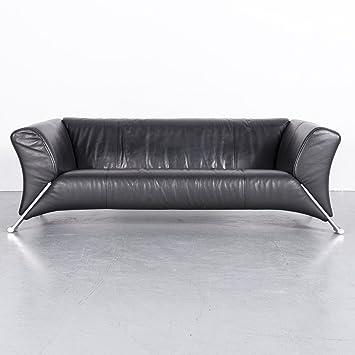 Amazon.de: Rolf Benz 322 Leder Sofa Schwarz Echtleder Couch ...