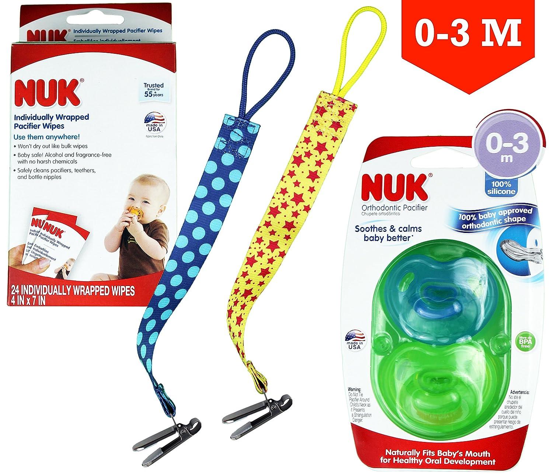 Amazon.com : NUK Othodontic Pacifiers (0-3m) + NUK Paci ...