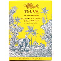 TGL Bombay Cutting Chai Instant Tea Premix Tea with Cardamom and Ginger, 14 Sachets (196 Grams)
