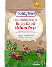 Healthy Times Organic Whole Grain Baby Cereal, Barley | Baby Food for Babies 4 Months & Older | 142 g Bag, 1 Count