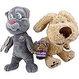 "Set of 2 - 10"" Talking Friends Phone App Soft Toys - Ben Dog + Tom Cat - NO SOUND"