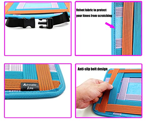 Amazon.com: Admirable Idea Car Back Seat Organizer Car Kick Mats for Toy Bottles Ipad Cables Storage,Anti-Slip Elastic Grid Organizer: Baby