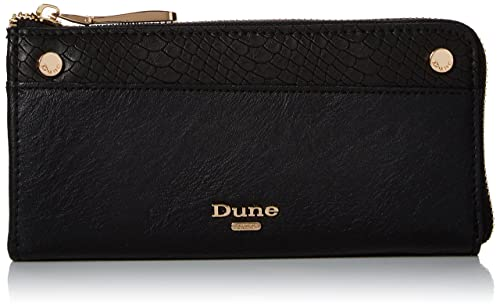 Dune Kallaura, Porte-monnaie femme, Black, 2x9x19 cm (W x H L)