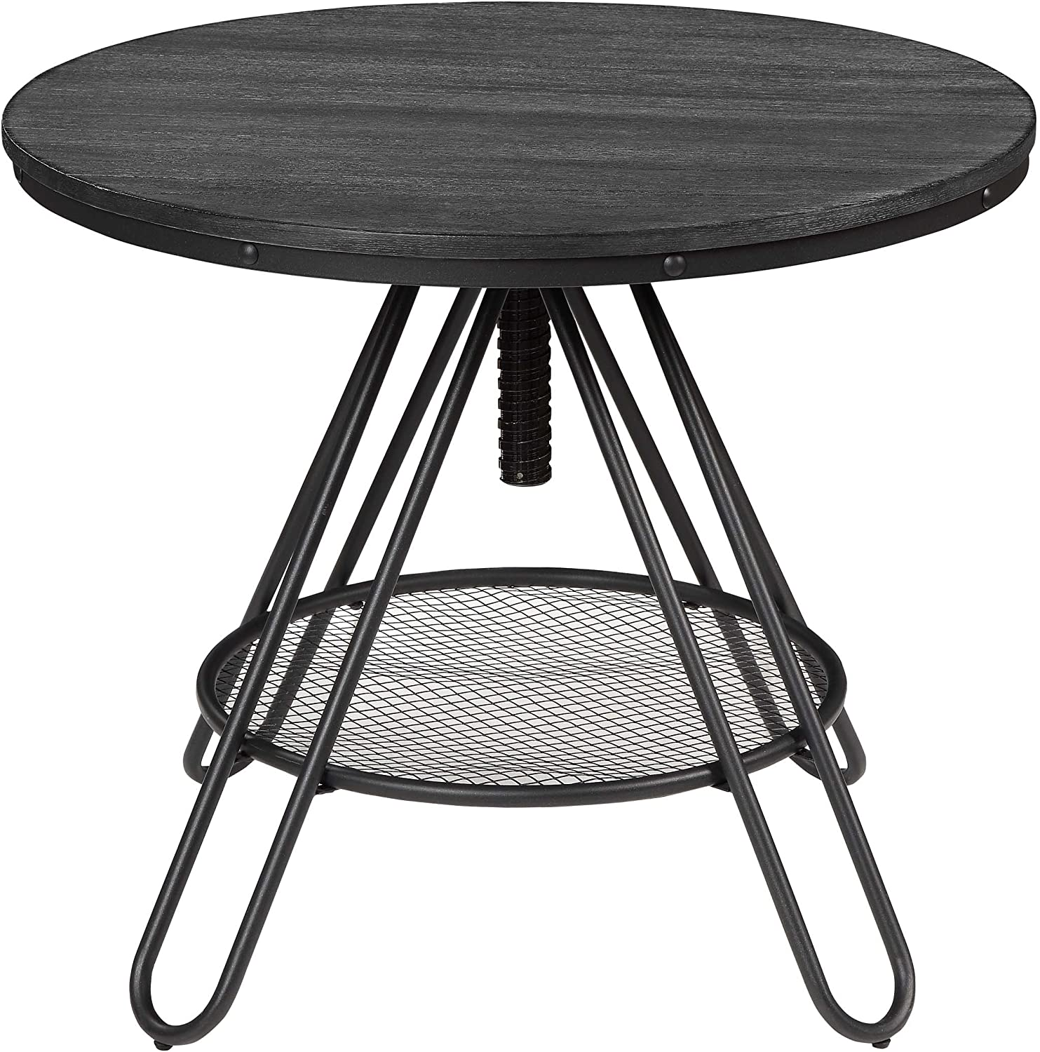 Homelegance Cirrus 36 Adjustable Round Counter Height Table, Black