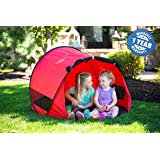 ModFamily Little Nook Children's Pop Up Play Tent for Fun Indoor and Outdoor Play (Red)
