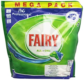 Fairy All in One Cápsulas para Lavavajillas - 100 Unidades: Amazon ...