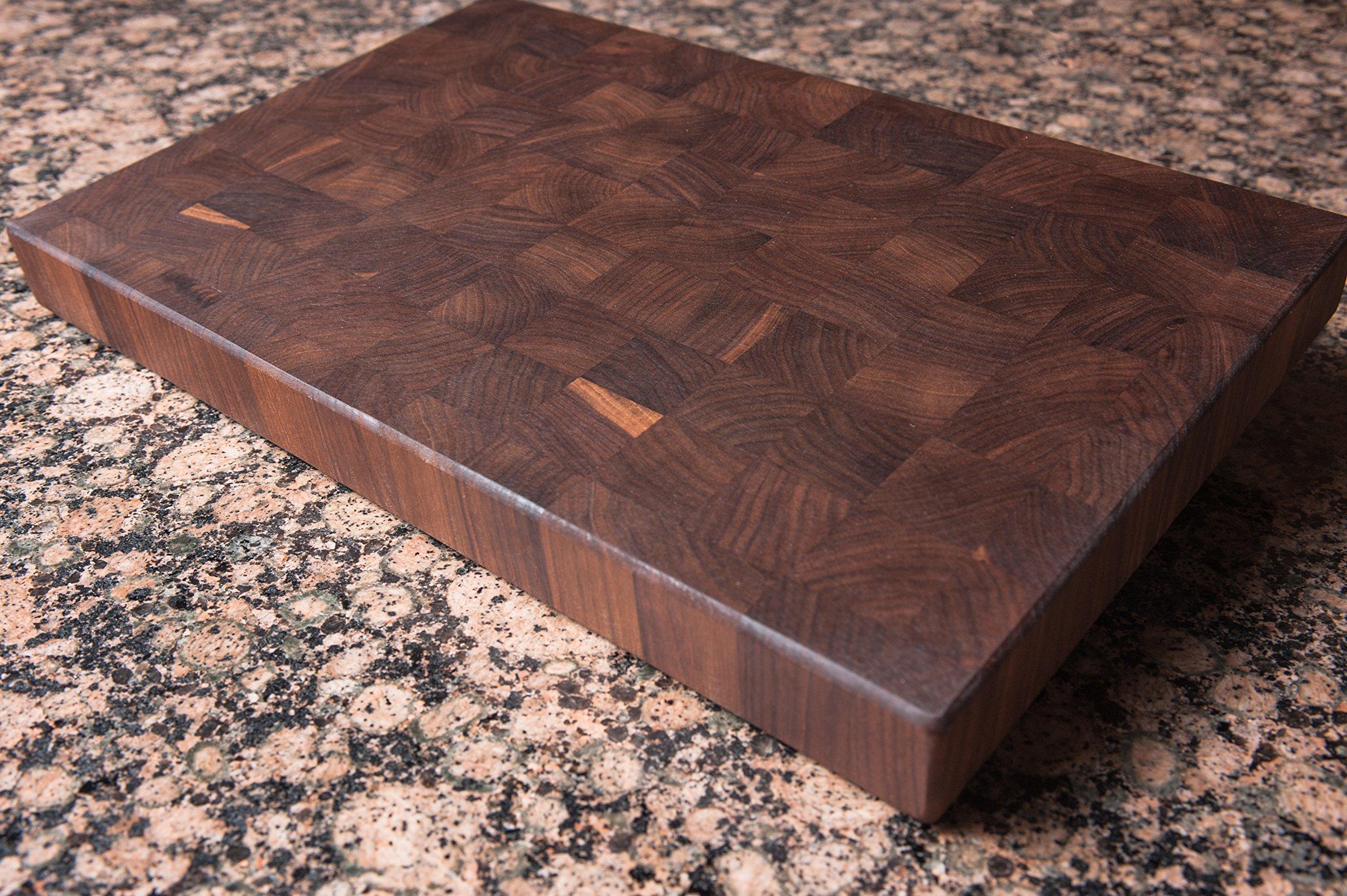 Chopping Blox Walnut End Grain Handmade Wood Cutting Board Large - (TRXM)