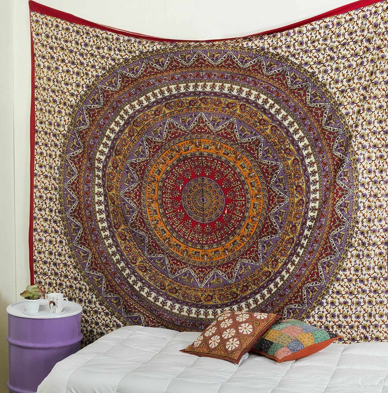 Popular Handicrafts Kp877 Tapesties Hippie Mandala Tapestry Hippie Mandala Wall Hanging Tapestries Wall Tapestries Mandala Tapestries Tapestry Wall Hanging Ombre Mandala Tapestries Boho Tapestries
