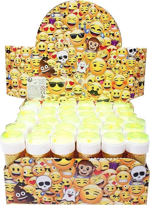 EMOTICONOS Caja 36 Unidades Pompero Burbujas: Amazon.es: Juguetes y juegos