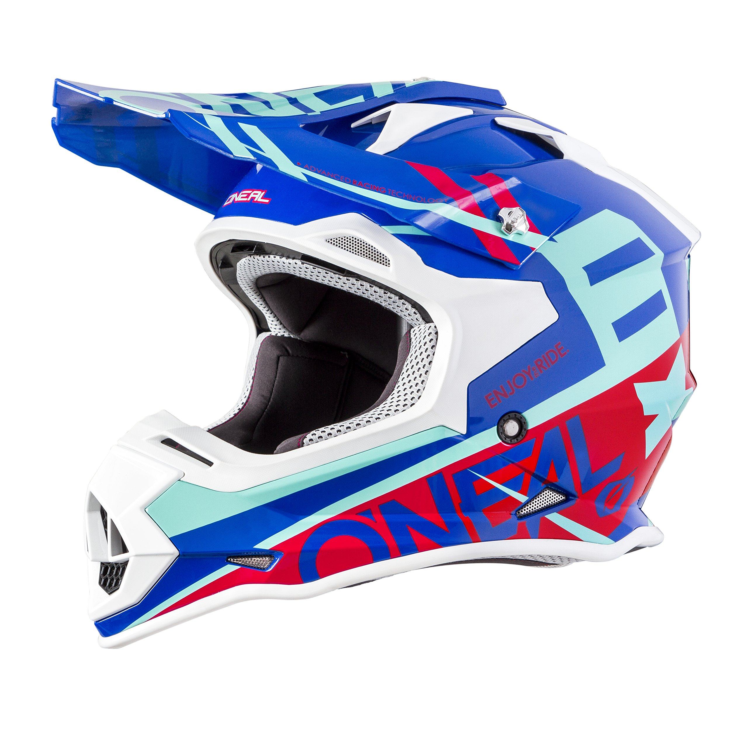 O'Neal 2SERIES Mens Off-Road SPYDE Helmet (Blue/Red, Small)