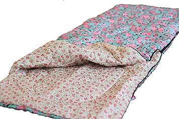 Finelady - Saco de dormir para mujer (cama de rosas), saco de dormir para jóvenes, 3 estaciones, ...