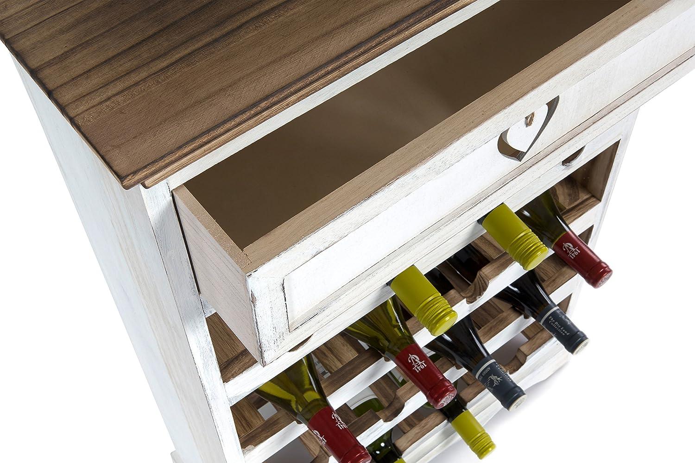 Credenza Con Portabottiglie : Portabottiglie in legno massello porta bottiglie